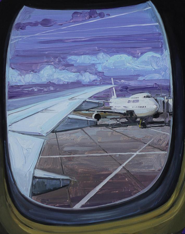 Hublot. Huile sur toile, 41 x 33 cm, 2008