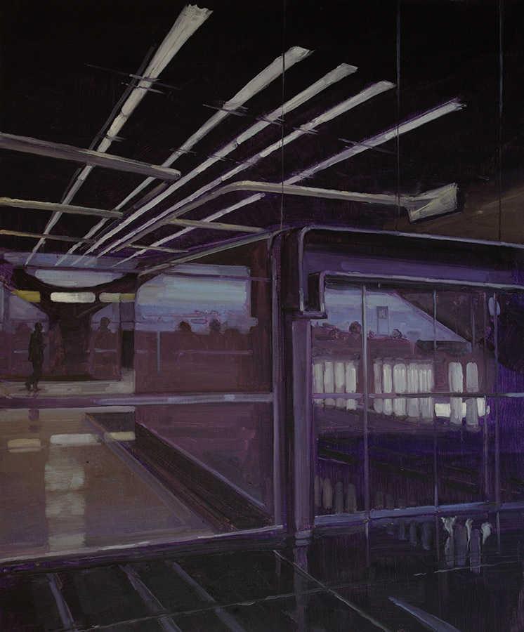 Porte 22. Huile sur toile, 130 x 97 cm, 2008