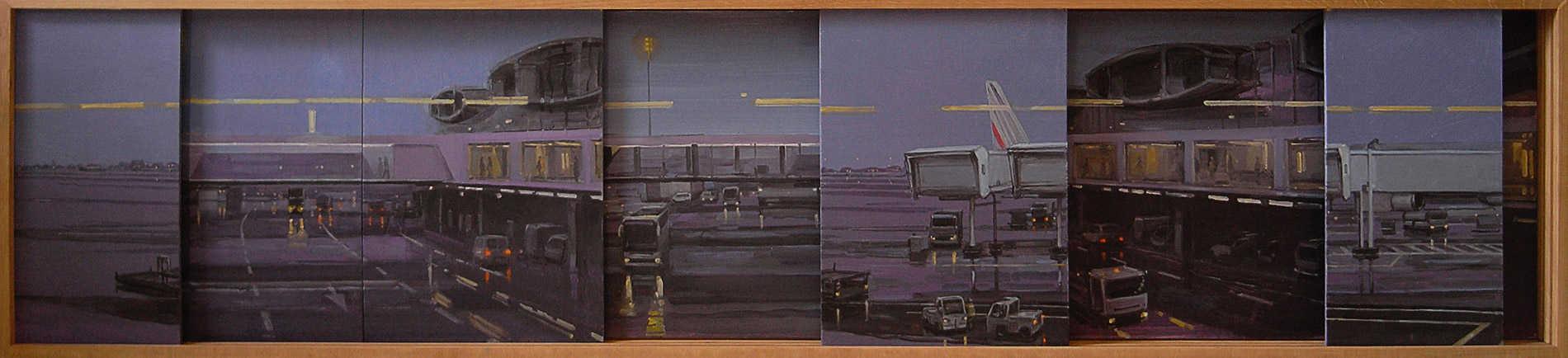 Tarmac à système. Huile sur toile, 40 x 175 cm, 2010