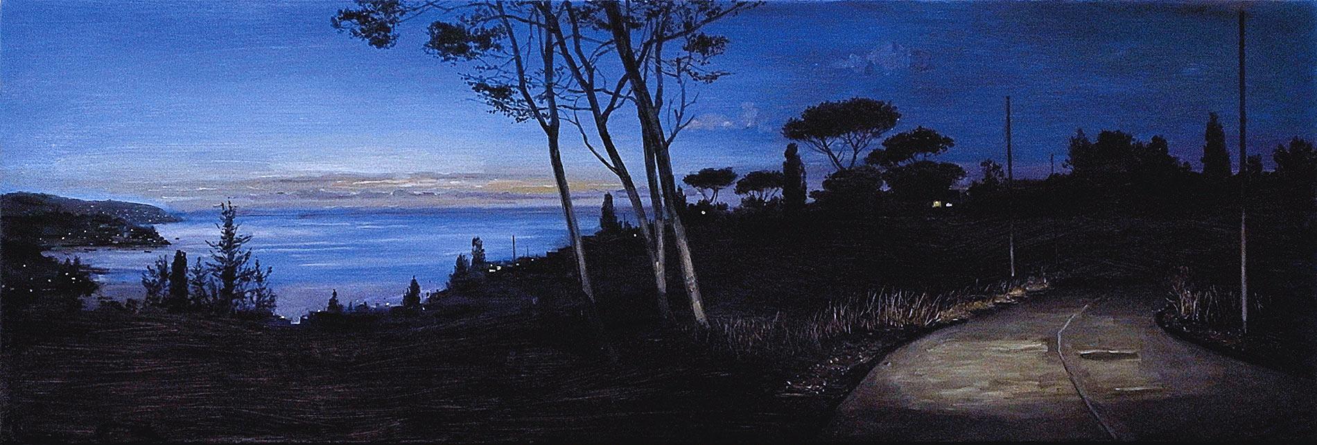 Argentario. Huile sur toile, 50 x 150 cm, 2014