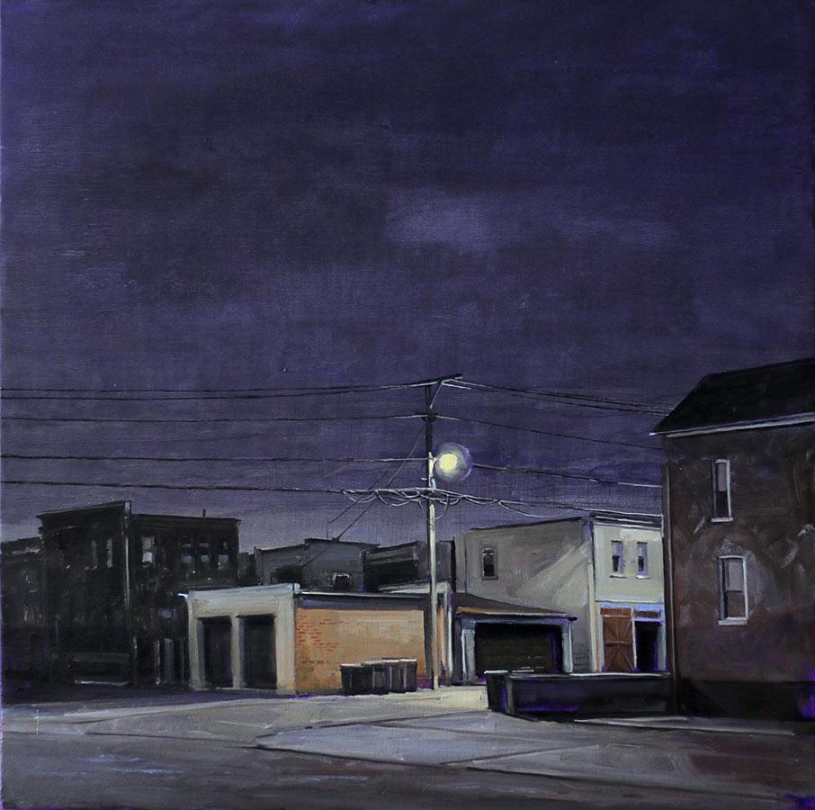 Contre-allée 2. Huile sur toile, 60 x 60 cm, 2015