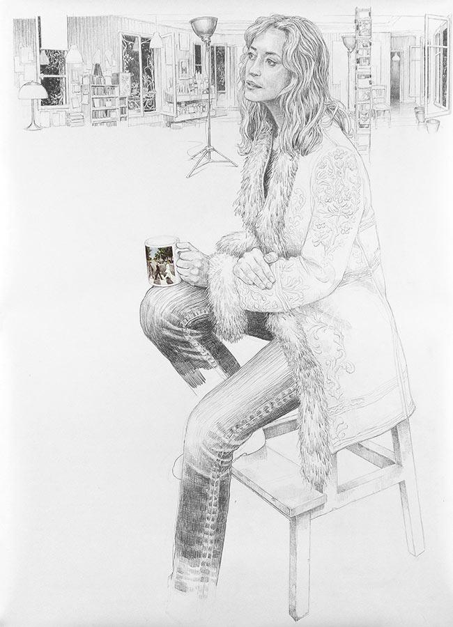 Hélène. Dessin, 150 x 90 cm, 2011
