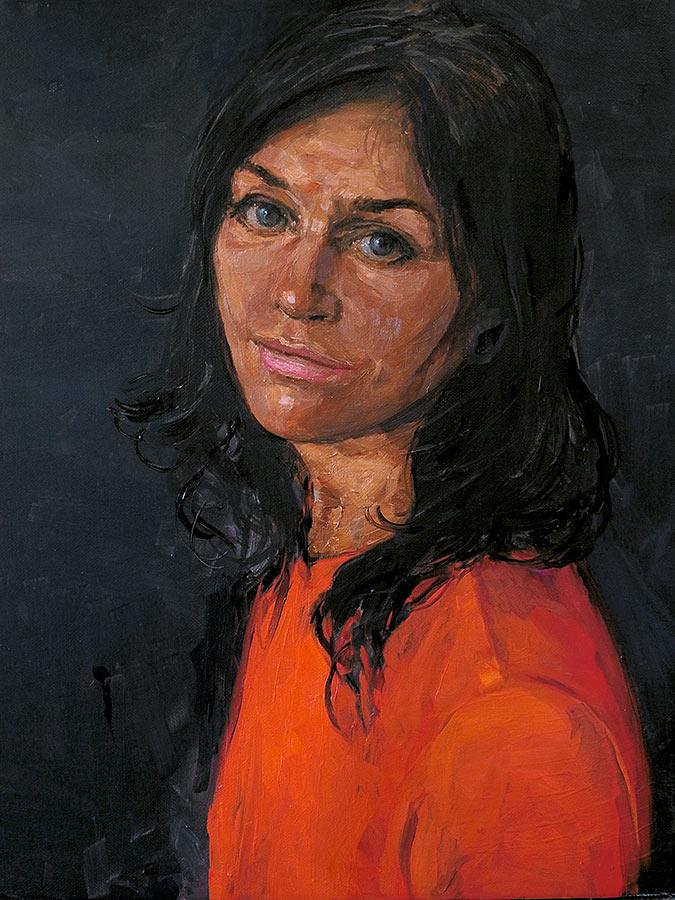Isabelle. Huile sur toile, 50 x 38 cm, 2014