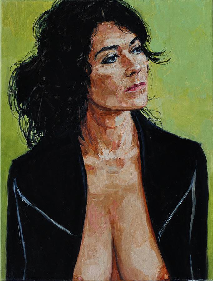 Isabelle B. Huile sur toile, 50 x 38 cm, 2014