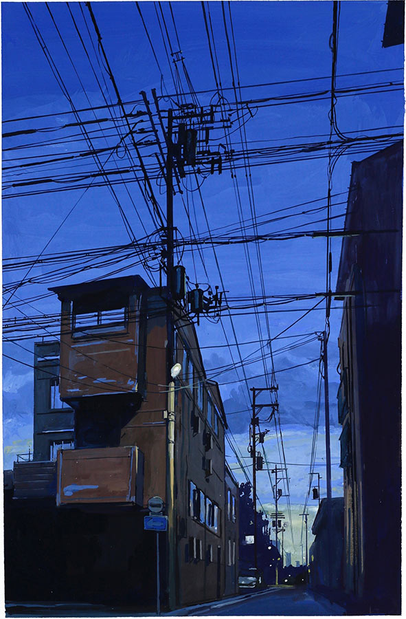 Kyoto. Gouache 50 x 32 cm, 2016