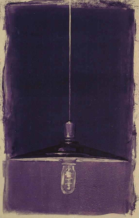 Lampe 1. Monotype, 34 x 22 cm, 2010