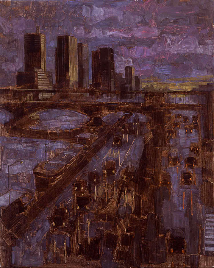 Le soir. Huile sur toile, 82 x 100 cm, 2000