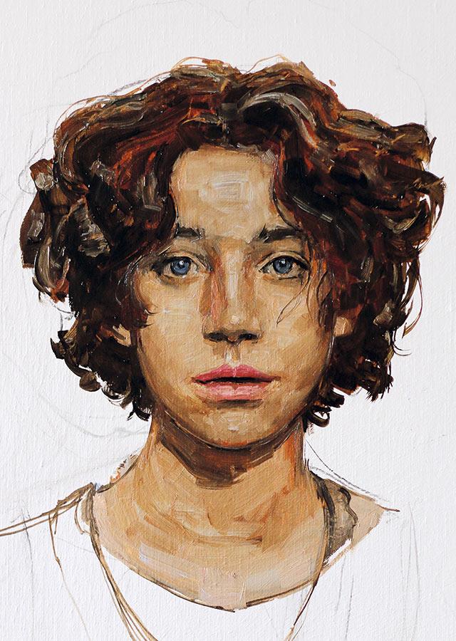 Lila. Huile sur toile, 50 x 38 cm, 2014