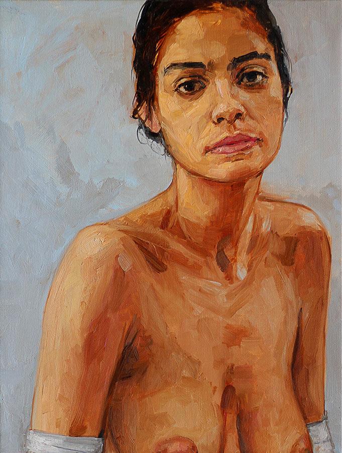 Marie. Huile sur toile, 50 x 38 cm, 2014