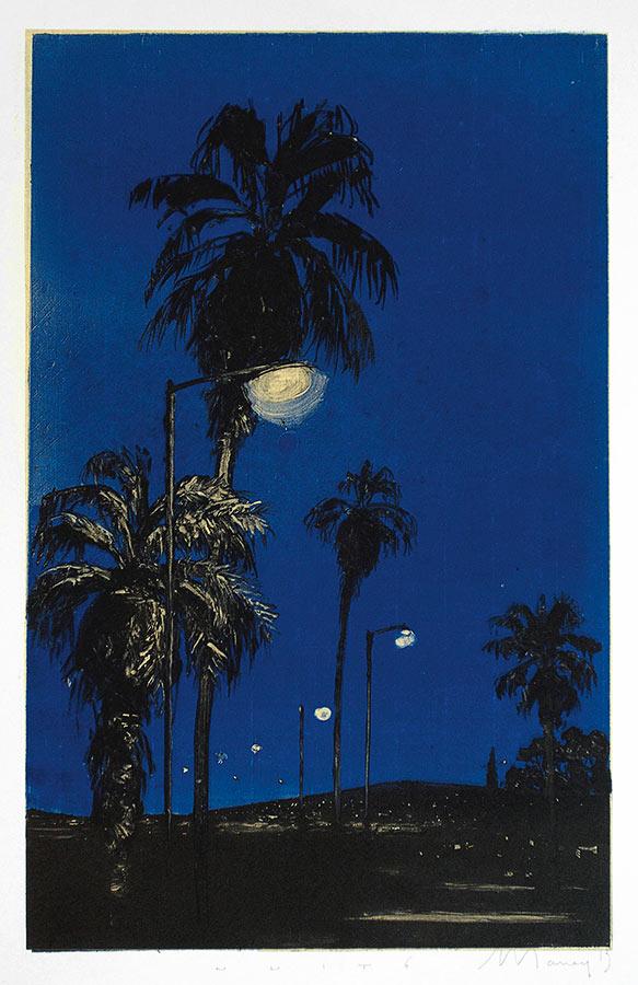Nuit 6. Monotype, 34,5 x 22 cm, 2013