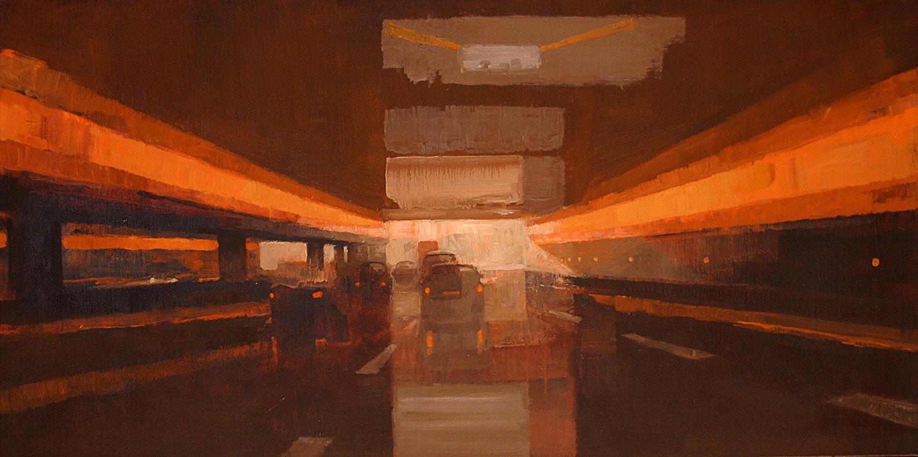 Périphérique. Huile sur toile, 100 x 50 cm, 2006