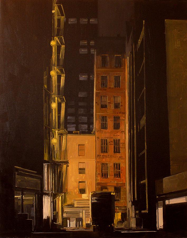Petit dead end. Huile sur toile, 46 x 27 cm, 2015