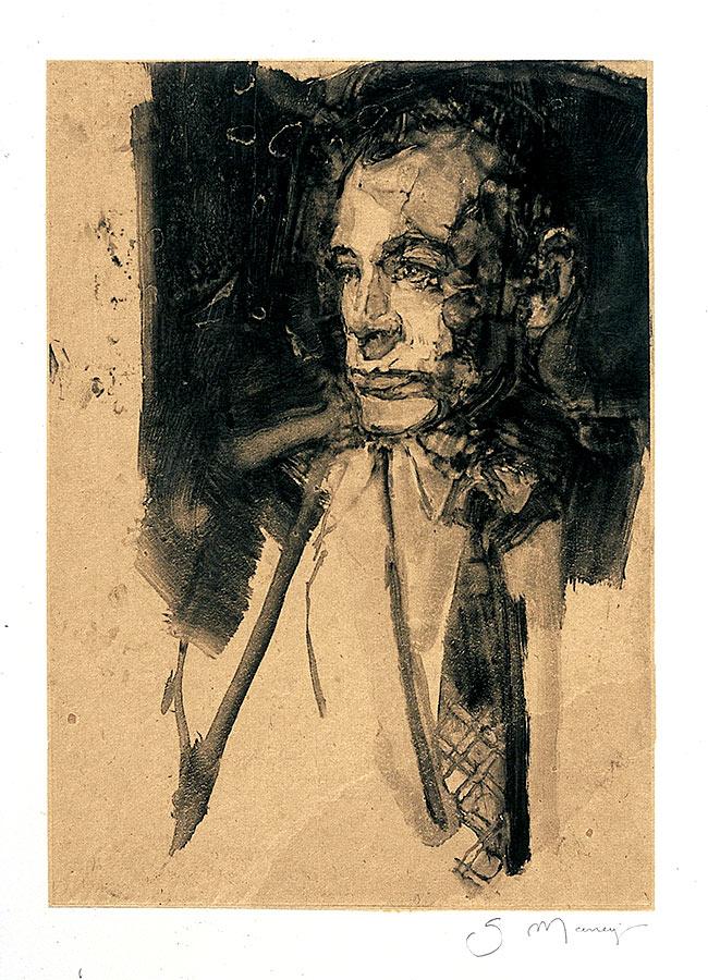 Portrait. Monotype, 34 x 22 cm, 2008