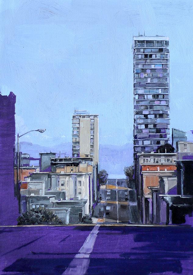 San Francisco. Huile sur toile, 100 x 73 cm, 2008
