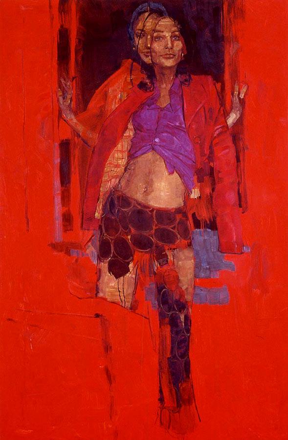 Soirée 2. Huile sur toile, 195 x 129 cm, 2000
