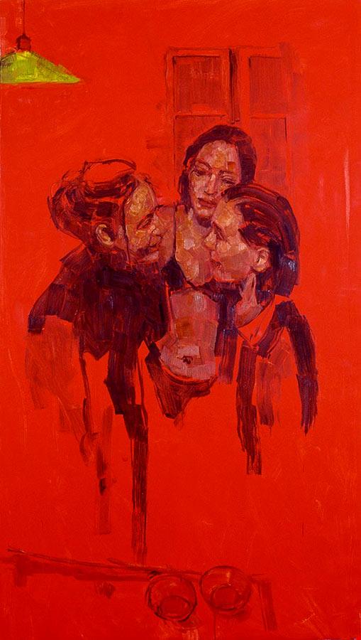 Soirée 3. Huile sur toile, 195 x 109 cm, 2000