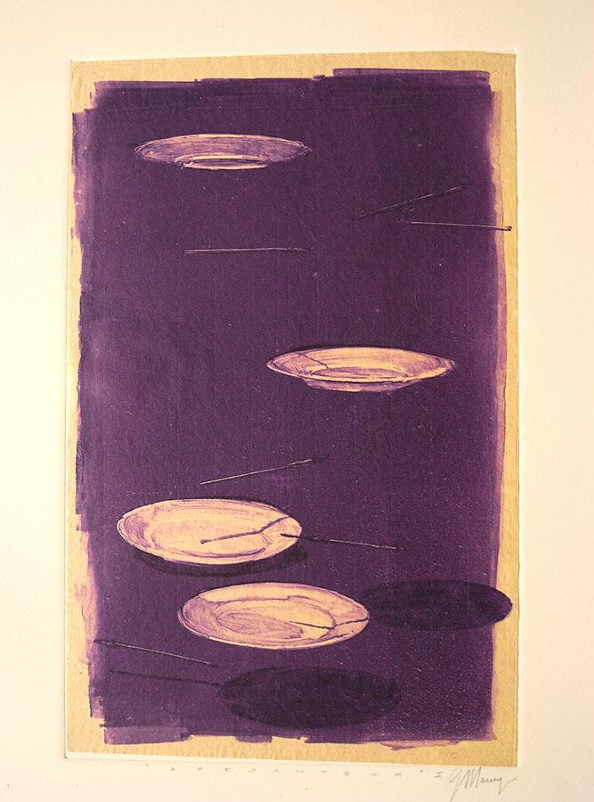 Soucoupes volantes. Monotype, 34,5 x 22 cm, 2010