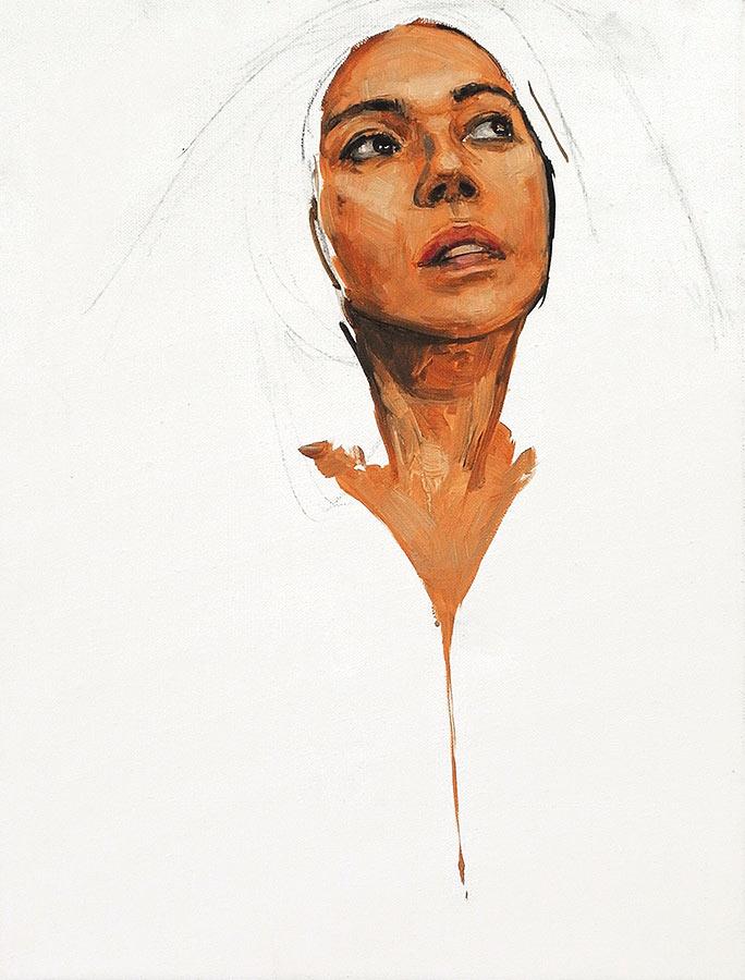 Sylvie. Huile sur toile, 50 x 38 cm, 2014