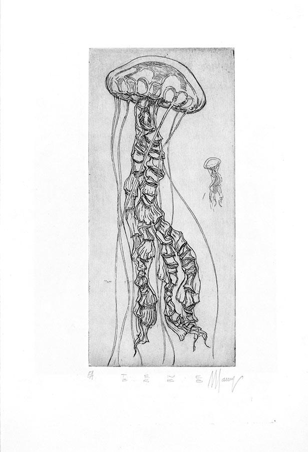 Ténèbres 10. Gravure (cuvette) 18 x 15 cm, 2014