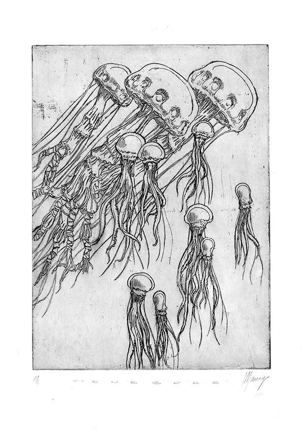 Ténèbres 6. Gravure (cuvette) 18 x 15 cm, 2014