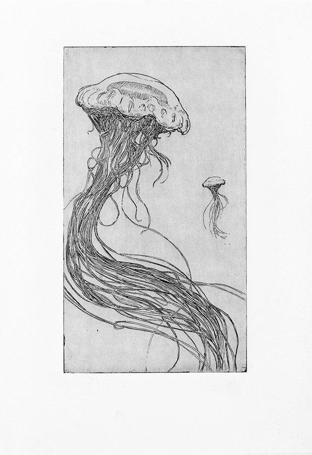 Ténèbres 8. Gravure (cuvette) 18 x 15 cm, 2014