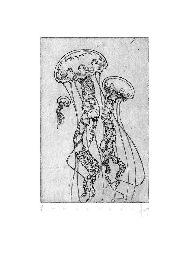 Ténèbres 9. Gravure (cuvette) 18 x 15 cm, 2014