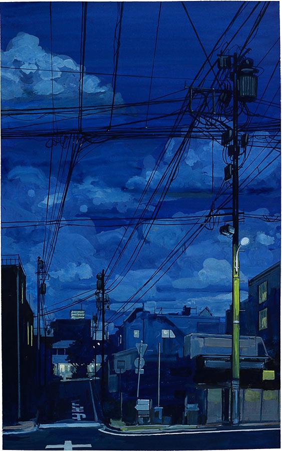 Tokyo 1. Gouache 50 x 32 cm, 2016