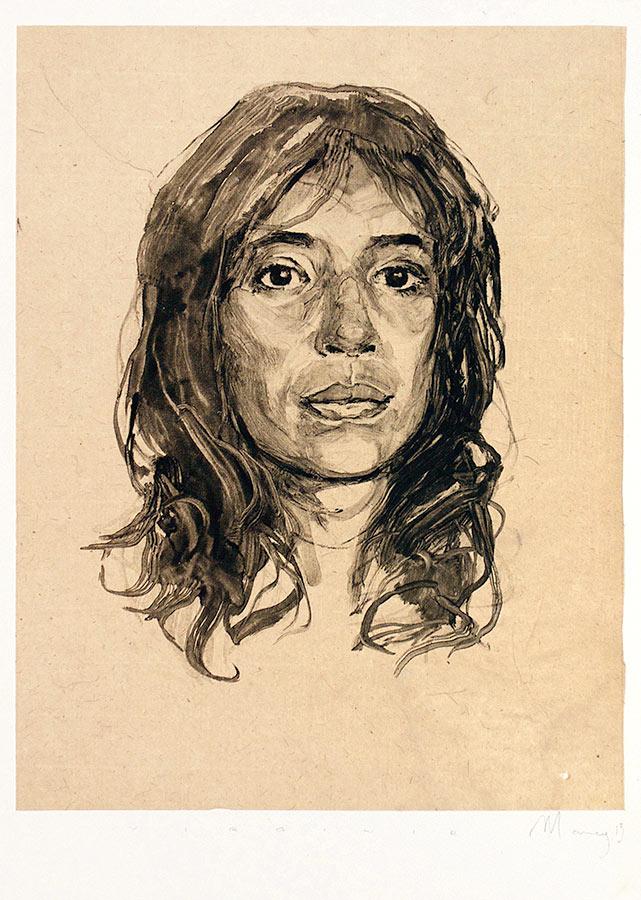 Virginie. Monotype, 21 x 27 cm, 2014