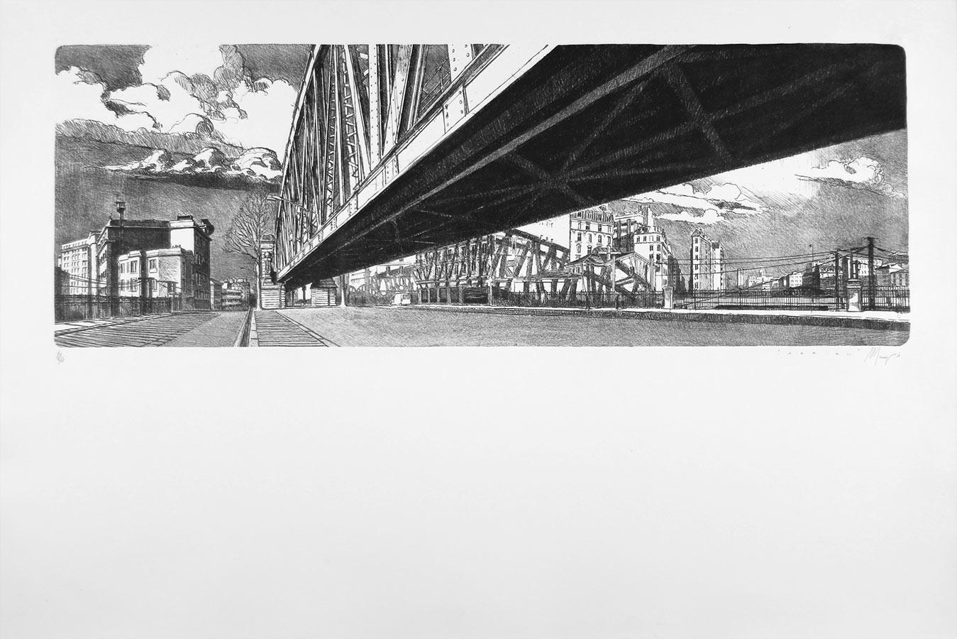 Aérien. Lithographie 20 ex. 50 x 110 cm, 2004