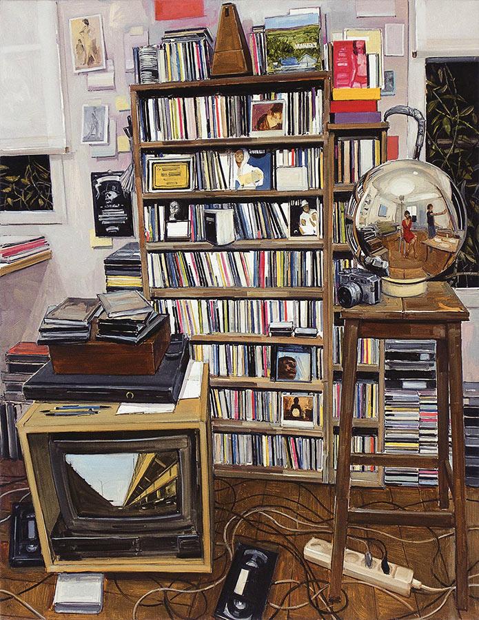 Atelier nuit. Huile sur toile, 146 x 114 cm, 2011