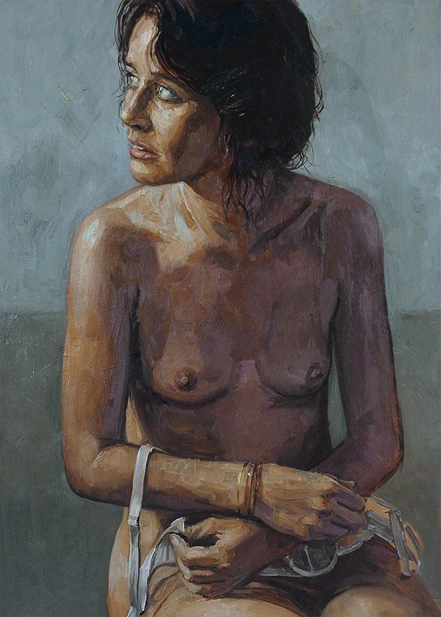 Coralie. Huile sur toile, 70 x 50 cm, 2014