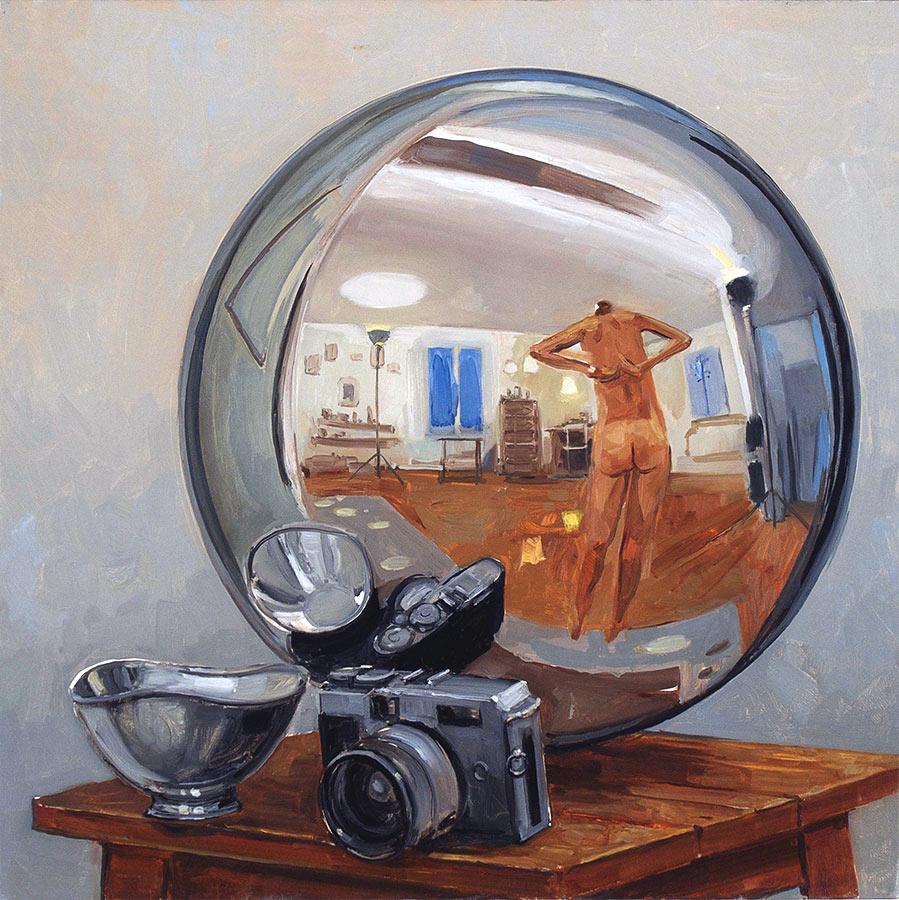 Globe 1. huile sur toile, 60 x 60 cm, 2011