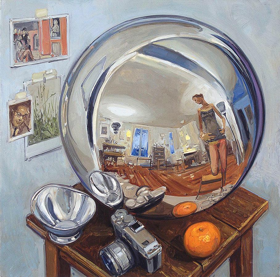 Globe 2. Huile sur toile, 60 x 60 cm, 2011