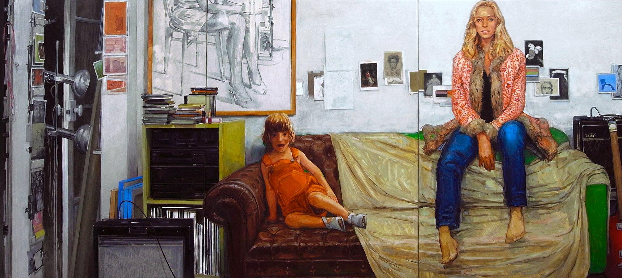 Les désordres 1. Triptyques, huile sur toile, 130 x 97 cm