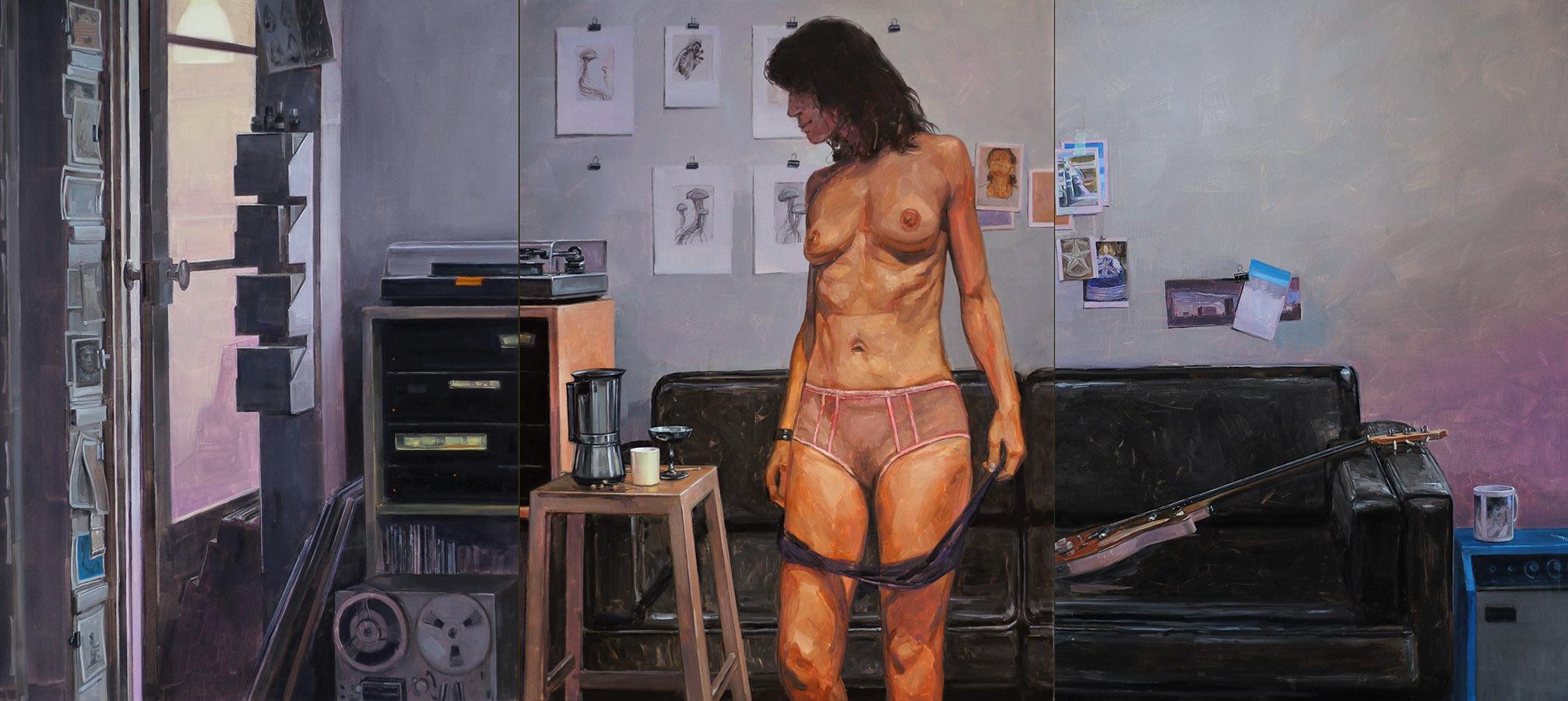 Les désordres 2. Triptyques, huile sur toile, 130 x 97 cm