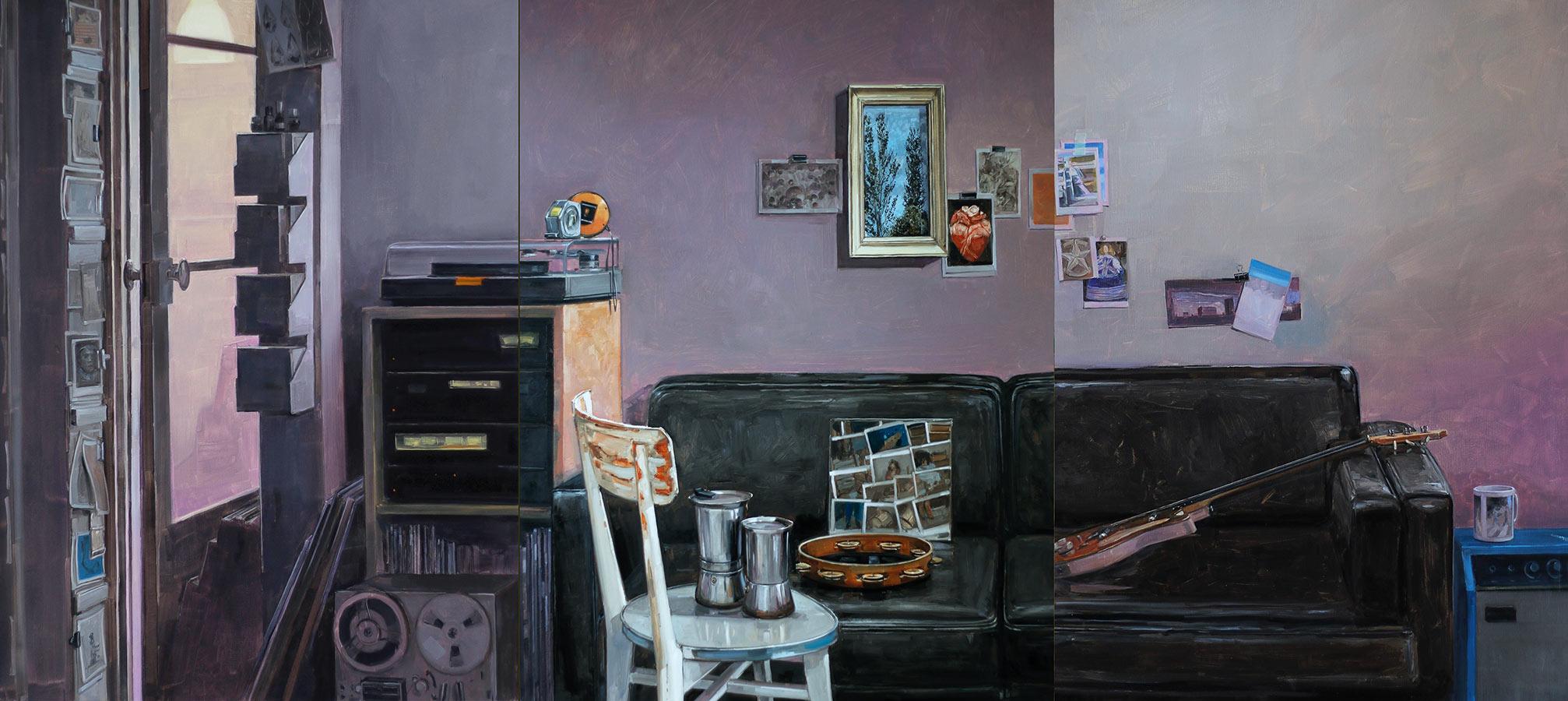 Les désordres 3. Triptyques, huile sur toile, 130 x 97 cm