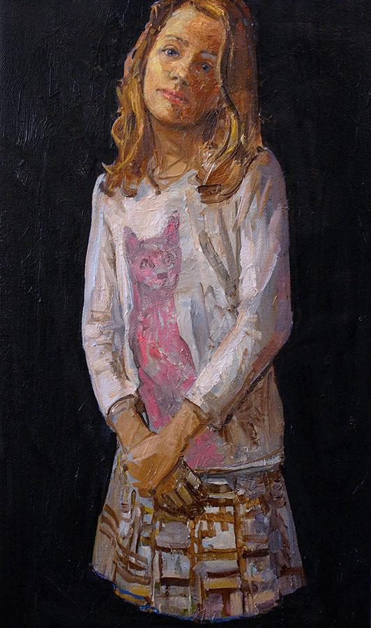 Musette. Huile sur toile, 45 x 27 cm, 2011