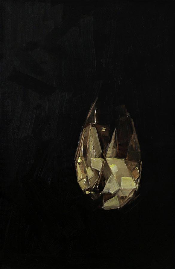 Pampille. Huile sur toile, 33 x 24 cm, 2014