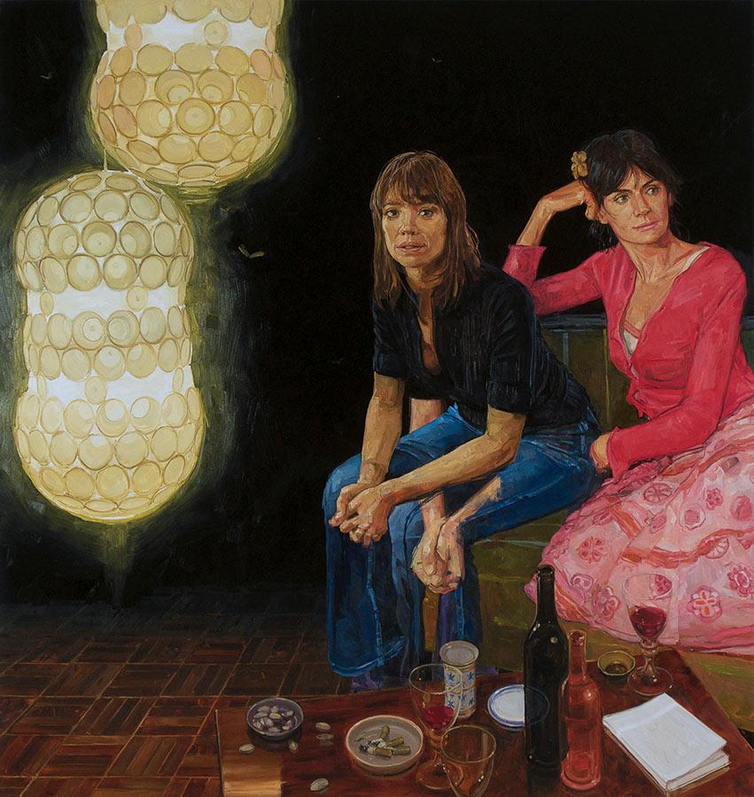 Petit salon 2. Huile sur toile, 181 x 171 cm, 2010