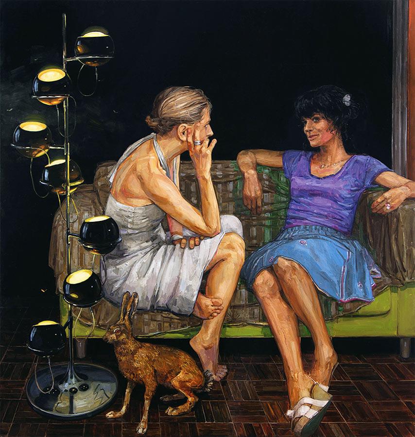 Petit salon 3. Huile sur toile, 181 x 171 cm, 2010-2014