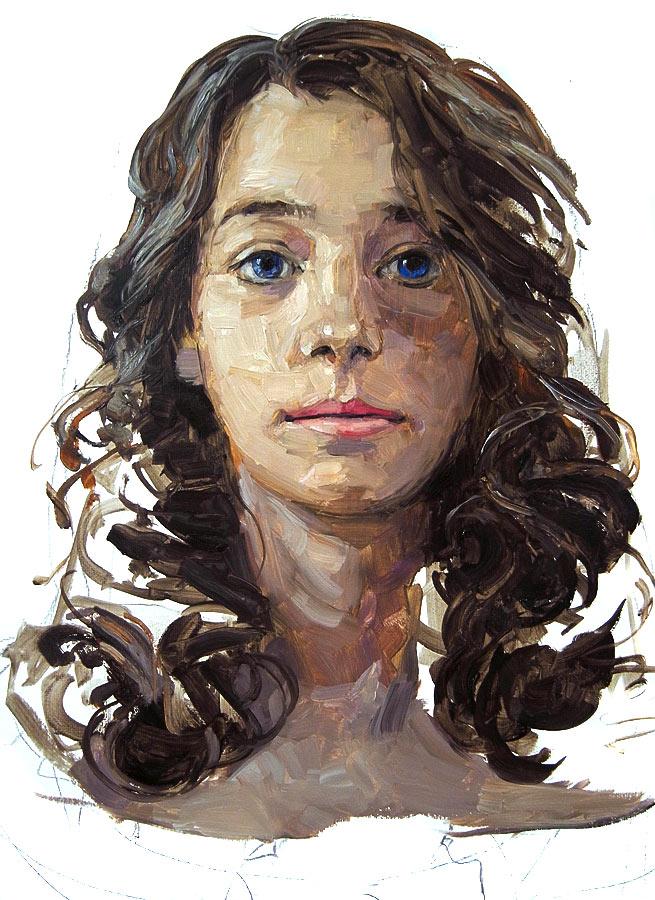 Lila. Huile sur toile, 2016