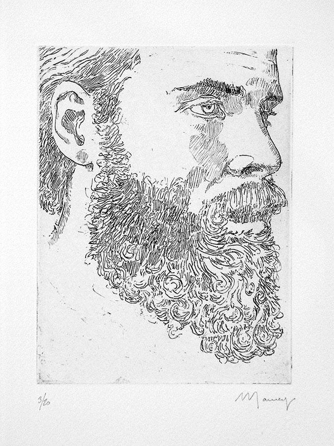 Tête d'homme 1. Gravure 18 x 13 cm, 2005