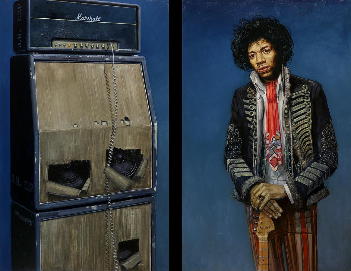 1968. Huile sur toile, 130 x 81-cm (x2), 2017