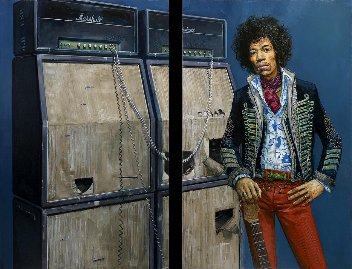 1969. Huile sur toile, 130 x 81-cm (x2), 2017