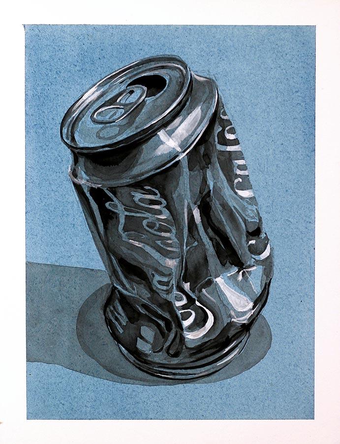 Canette. Encre et gouache, 32 x 22 cm, 2017