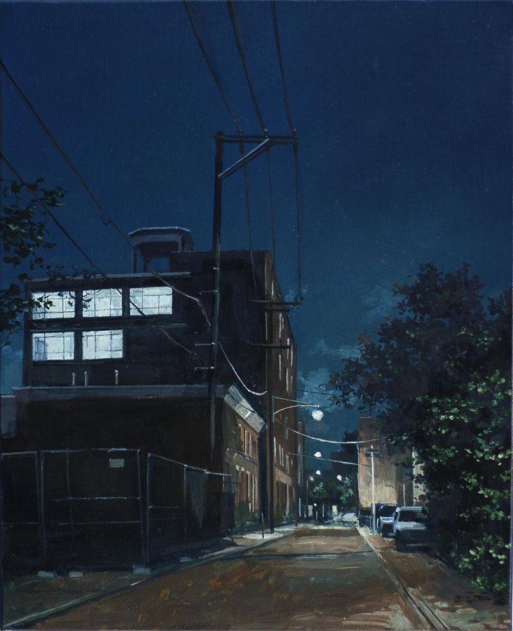 Philadelphie. Huile sur toile, 50 x 46 cm, 2019