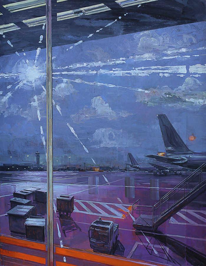 Eblouissement. Huile sur toile, 146 x 114 cm, 2008