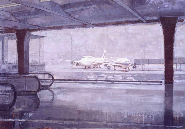 Satellite. Huile sur toile, 127 x 181cm, 2002