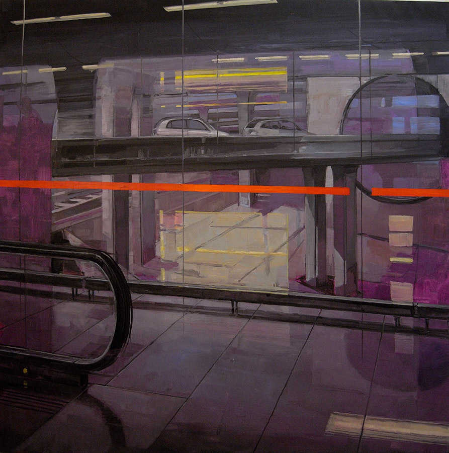 Terminal 2. Huile sur toile, 160 x 160 cm, 2008