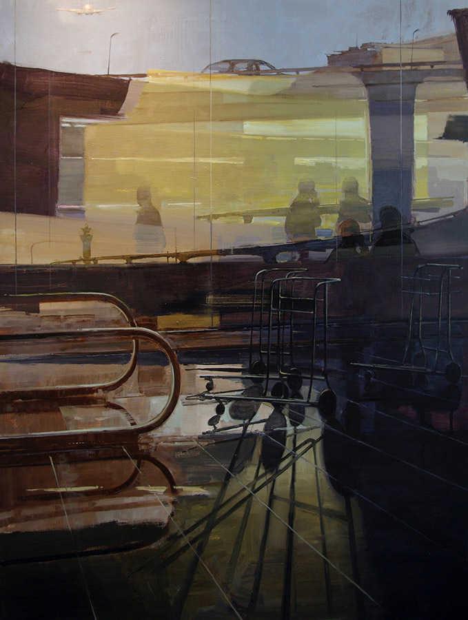Terminal 3. Huile sur toile, 162 x 130 cm, 2009